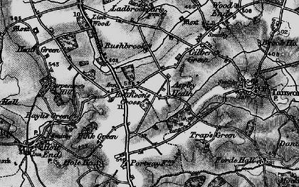 Old map of Aspley Heath in 1898