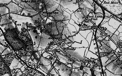 Old map of Aspull in 1896