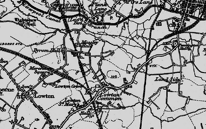 Old map of Aspull Common in 1896