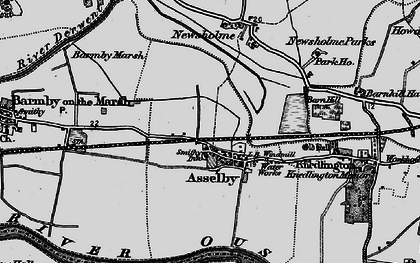 Old map of Asselby in 1895