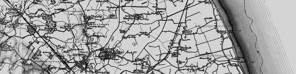 Old map of Asserby in 1898