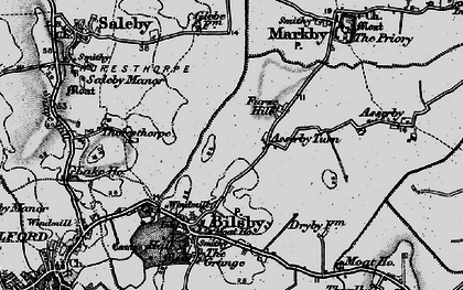 Old map of Asserby Turn in 1899