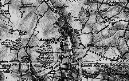 Old map of Assington in 1896