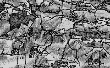 Old map of Assington Green in 1895