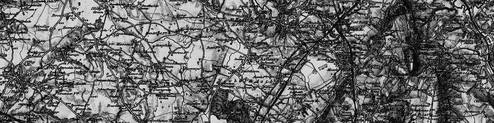 Old map of Astbury in 1897