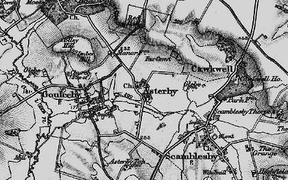 Old map of Asterby Ho in 1899