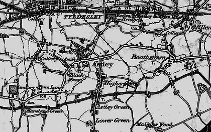 Old map of Astley in 1896