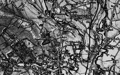 Old map of Astley Bridge in 1896