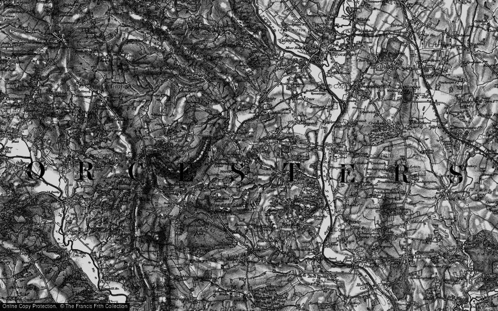 Old Map of Astley Burf, 1898 in 1898