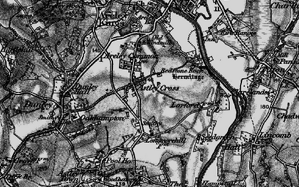Old map of Astley Cross in 1898