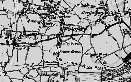 Old map of Astley Green in 1896