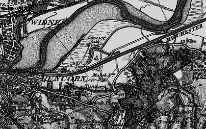 Old map of Astmoor in 1896