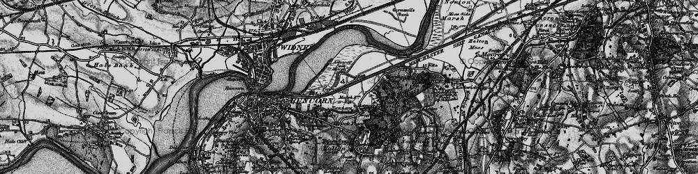 Old map of Wigg Island Community Park in 1896