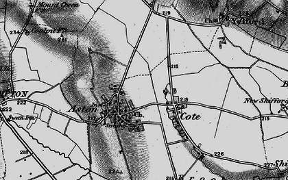 Old map of Aston in 1895