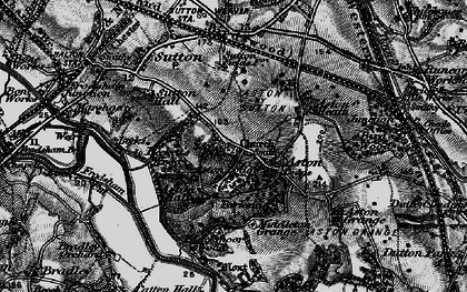 Old map of Aston in 1896