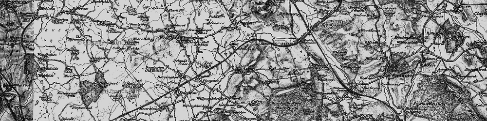 Old map of Lea Head Manor in 1897