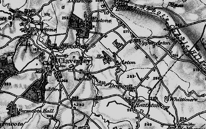 Old map of Aston in 1899