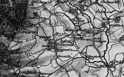 Old map of Aston Botterell in 1899