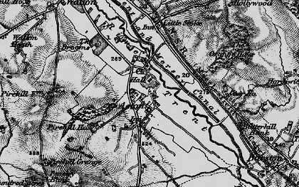 Old map of Aston-By-Stone in 1897