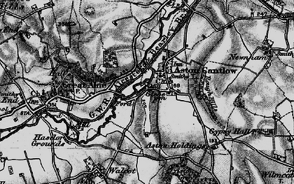 Old map of Aston Holdings in 1898
