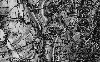 Old map of Aston Crews in 1896