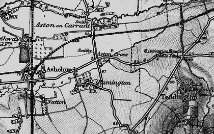 Old map of Aston Cross in 1896