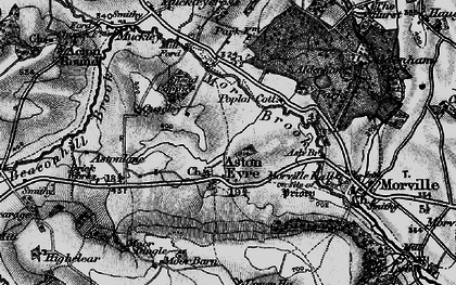 Old map of Aston Eyre in 1899