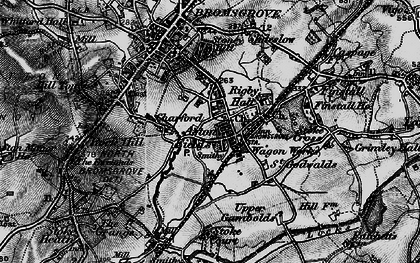 Old map of Aston Fields in 1898