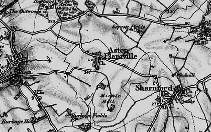 Old map of Aston Flamville in 1899
