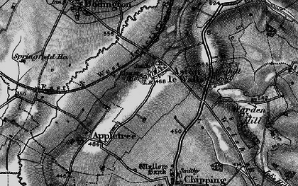 Old map of Aston le Walls in 1896