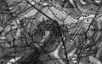 Old map of Aston Magna in 1898