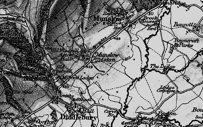 Old map of Aston Munslow in 1899