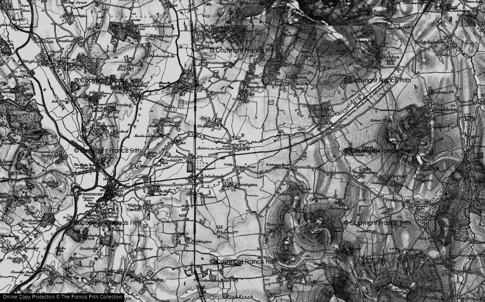 Old Map of Aston on Carrant, 1898 in 1898