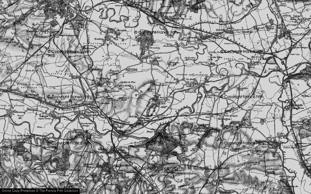 Old Map of Aston-on-Trent, 1895 in 1895