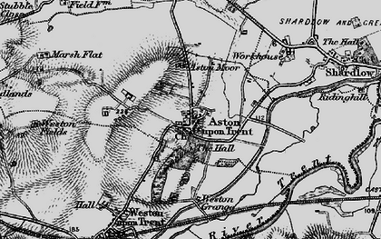 Old map of Aston-on-Trent in 1895