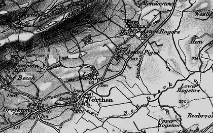 Old map of Aston Pigott in 1899
