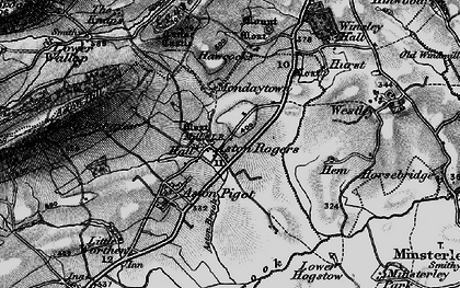 Old map of Aston Rogers in 1899