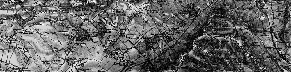 Old map of Aston Rowant in 1895