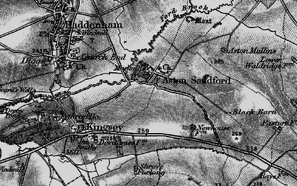 Old map of Aston Sandford in 1895