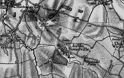 Old map of Aston Somerville in 1898