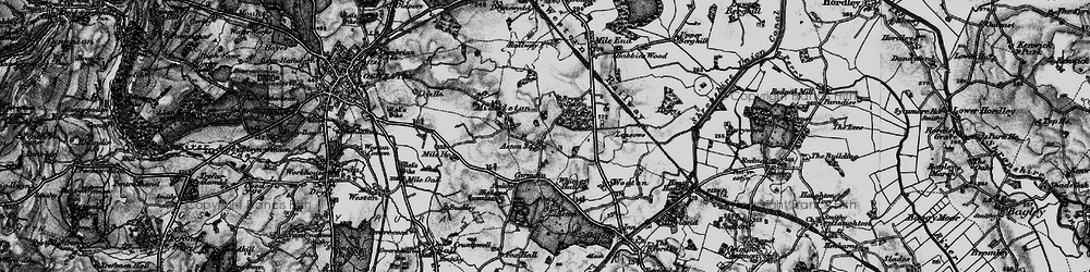 Old map of Leasowes The in 1897