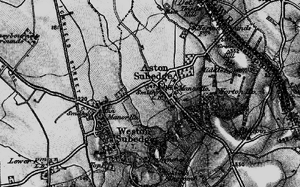 Old map of Aston Subedge in 1898