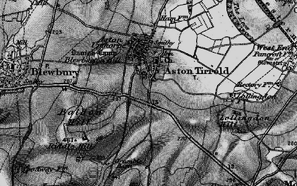 Old map of Aston Tirrold in 1895