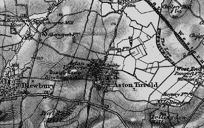 Old map of Aston Upthorpe in 1895