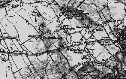 Old map of Astrope in 1896
