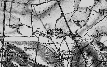 Old map of Astwick in 1896