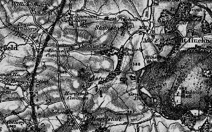 Old map of Astwith in 1896