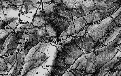 Old map of Astwood in 1896