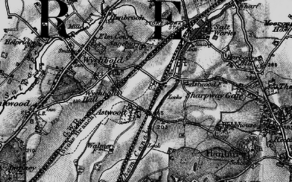 Old map of Astwood in 1898