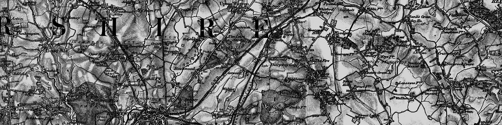 Old map of Worcester & Birmingham Canal in 1898